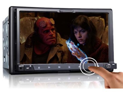 2DIN DVD autorádio s bluetooth, SD/USB/FM/DUAL-GPS/RDS/ČESKÉ MENU