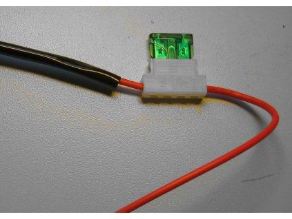 5x Pojistkové pouzdro s kabelem + pojistka