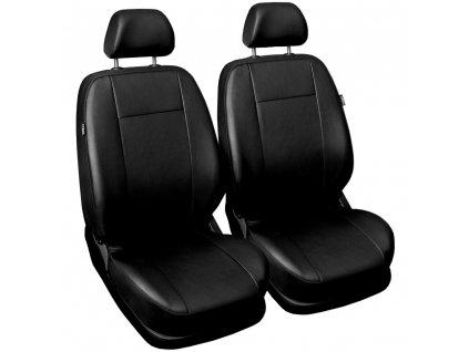 Autopotahy COMFORT kožené, sada pro dvě sedadla, černé
