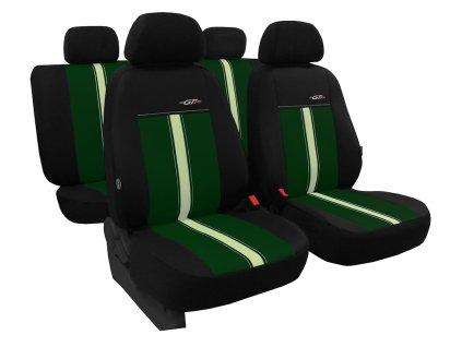 Autopotahy kožené GTR zeleno béžové