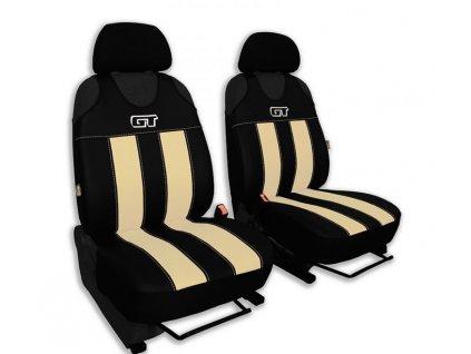 Autopotahy GT kožené, sada pro dvě sedadla, béžové