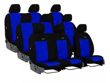 Autopotahy FORD TRANSIT VII, 9 míst, DĚLENÁ ZADNÍ OPĚRADLA, od r. 2014, Elegance modré