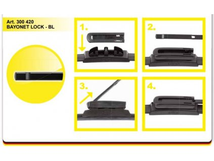 Adaptér stěače SA30042 01 BAYONET LOCK BL návod