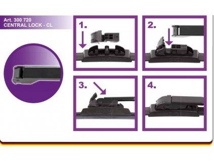 Adaptér stěače SA30072 CL CENTRAL LOCK CL návod