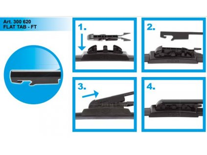 Adaptér stěače SA30062 FT FLAT TAB FT návod