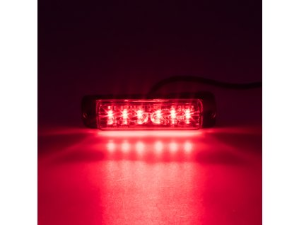 LINEAR LED 6x5W LED, 12-24V, červený, ECE R65