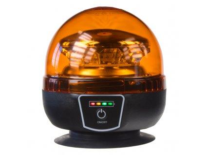 AKU LED maják, 12x1W oranžový, magnet, ECE R65