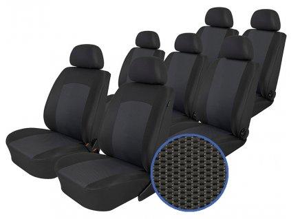 Autopotahy Volkswagen Sharan, od r. 1994-2010, 7 míst, Dynamic grafit