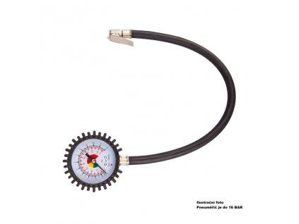 Pneuměřič 16 BAR s flexi hadičkou 50cm, 42800