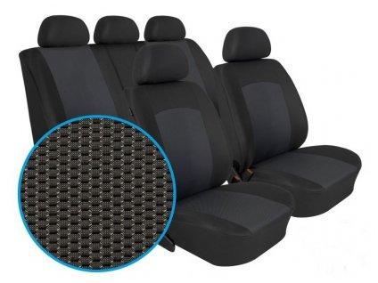 Autopotahy OPEL CORSA D, od r. 2006-2014, nedělená sedadla, Dynamic grafit
