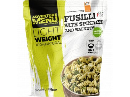Pouch LW Fusilli with spinach