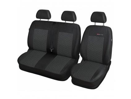 Autopotahy Fiat Doblo Cargo od r. 2015, 3 MÍSTA, antracit
