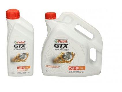 Castrol GTX High Mileage 15W 40 A3 B4 motorový olej 1 4
