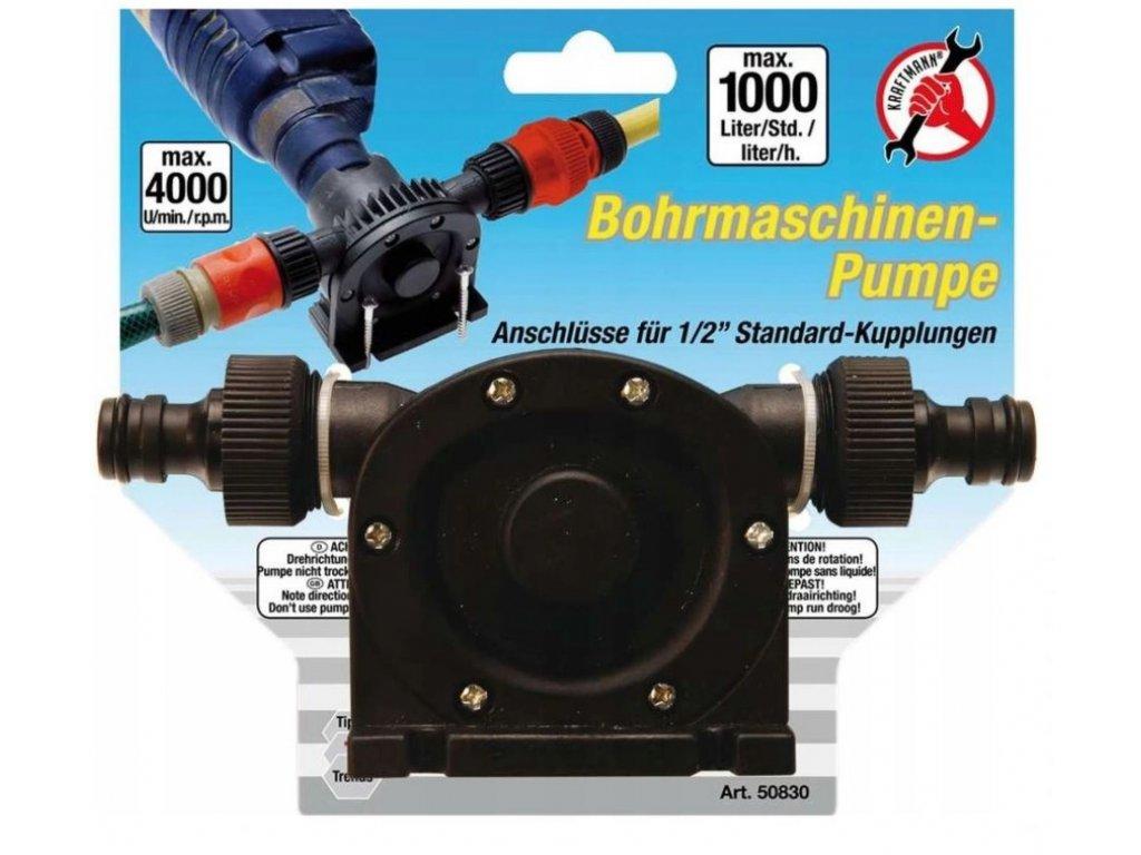Čerpadlo pumpička na vypouštění paliva pomocí vrtačky