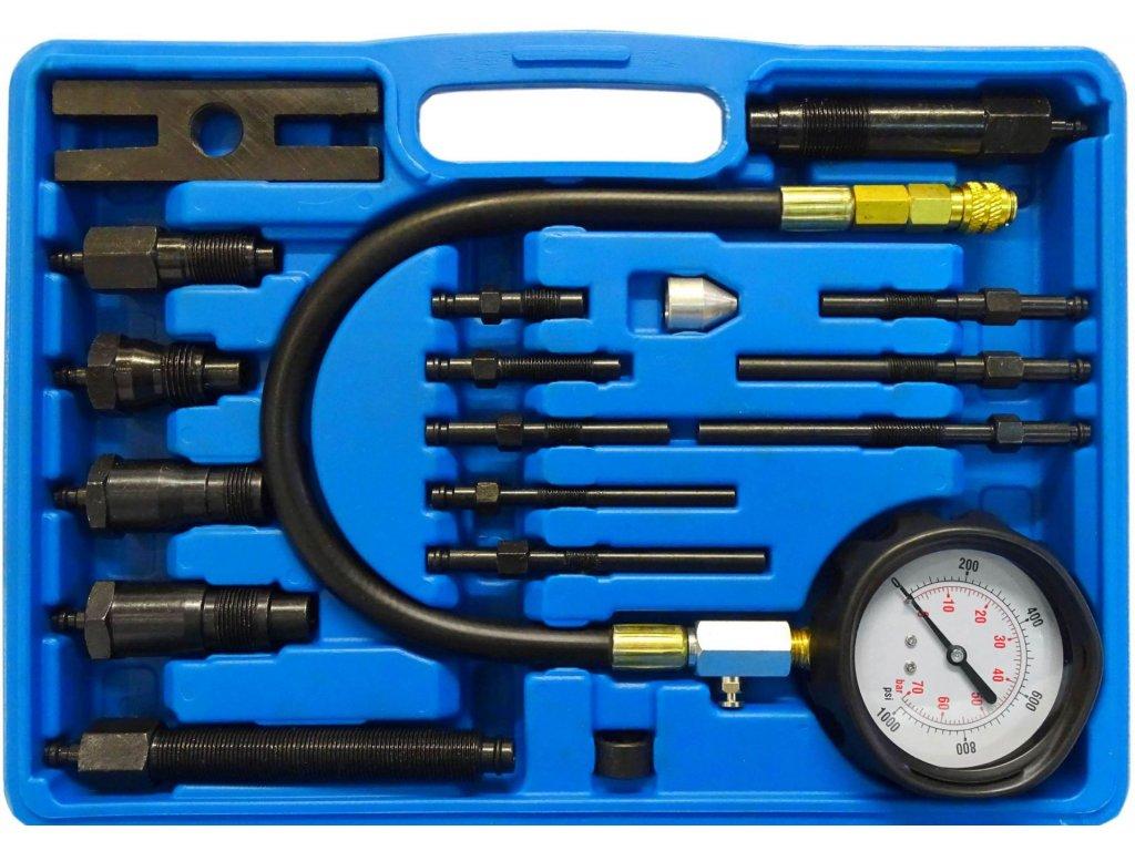 Kompresiometr pro vznětové motory diesel-Tester komprese pro dieselové motorypro měření a diagnostiku kompresního tlaku u vznětových motorů osobních a dodávkových vozidel včech běžných značek pro tlak0 70 bar (0 1000Psi).