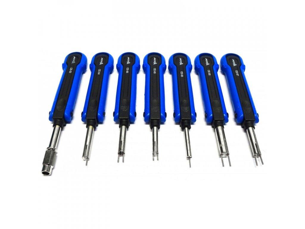 Vypichováky konektorů, pinů, elektroinstalace Asta