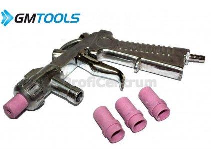 Pískovací pistole + 4 náhradní trysky na pískování