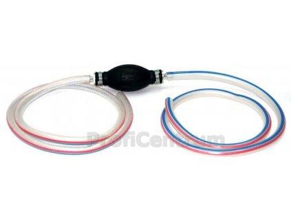 Odsávačka, ruční pumpička na přečerpávání paliva + 2 hadice