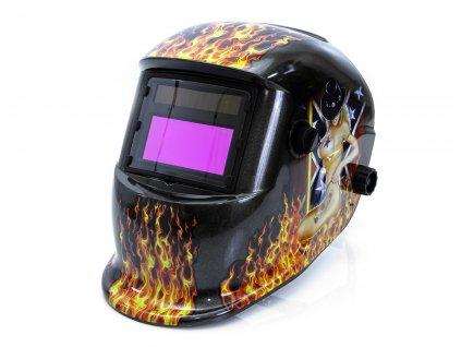 Maska na svařování samostmívací, 2 filtry