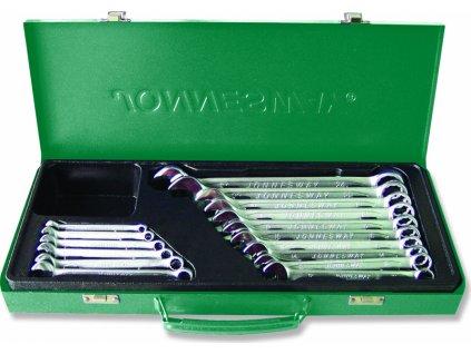 Sada očkoplochých klíčů, 16 ks, 6-24 mm, v kufříku - JONNESWAY W26116S