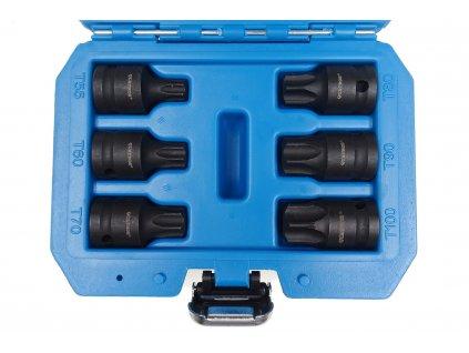 Zástrčné hlavice úderové TORX 1 2, T55 T100, 6 kusů QS50067