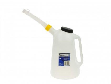 Dóza na motorový olej s měrkou 5L, konev na dolévání oleje