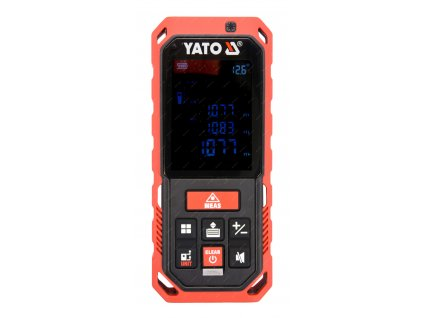 Laserový měřič vzdálenosti 0.2-40M, dálkoměr ,měření úhlu, obvodu,- YATO YT-73126