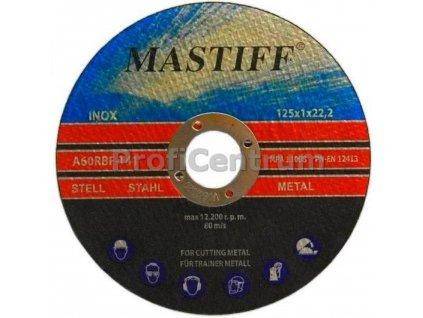 Brusný kotouč, broušení 125x1.0mm INOX, MASTIFF