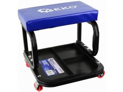Dílenská stolička,pojízdný taburet pro dílny + police na nářadí