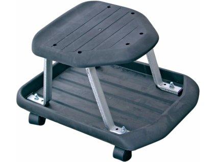Dílenská židlička,pojízdný taburet pro dílny + police na nářadí BGS technic