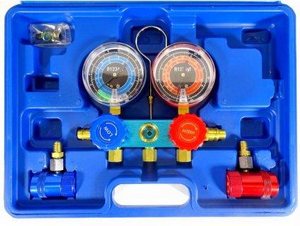 Přípravek na servis a nastavení těsnosti a doplnění klimatizace vautomobilech s chladivem 1234yf.