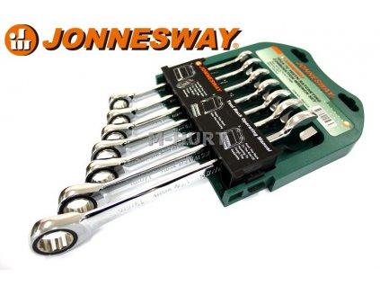 Očkoploché klíče s račnou 7ks Jonnesway