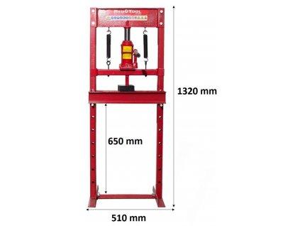 Hydraulický lis 12 tun 0 650mm