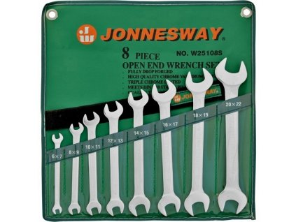 Klíče ploché 6-22mm Jonnesway, sada 8ks