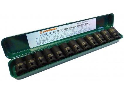 Úderové hlavice 8 19mm 3 8' 12ks Jonnesway