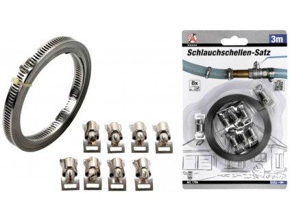 Univerzální ocelová objímka pro vodovodní, vzduchové, plynové vedení 8x300cm, BGS GERMANY