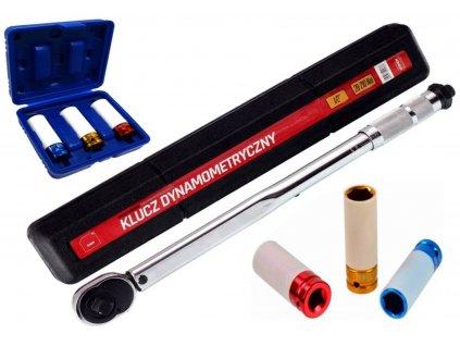 Momentový klíč 1/2' 28-210NM + nástrčné klíče na kola 17,19,21mm