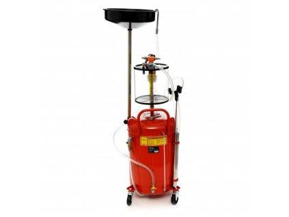 Pneumatická odsávačka oleje 80L,sběrná nádoba na motorový olej-Olejová jímka na odsávání motorového oleje ,pojízdná sběrná nádoba na olej 80 lG02120.