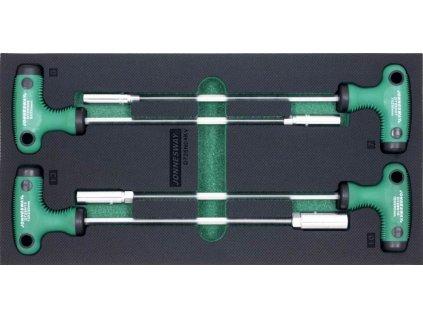 Nástrčné klíč typu T , 7 13 mm, pěnový modul do zásuvky sada 4 ks