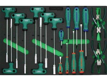 Modul s nářadím šroubováky typu T, nástrčné klíče, segerovy kleště, sada 20 ks