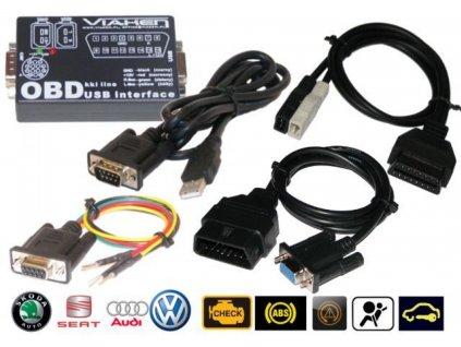 Diagnostika USB pro automobily  VAG s dvoulinkou K (KKL) + kabely : OBD1, OBD2, piny
