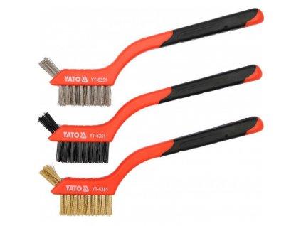 Drátěné kartáče YATO 3ks 180mm