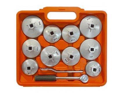 Klíče na olejový filtr, sada ALU klíčů na olejové filtry 23 ks