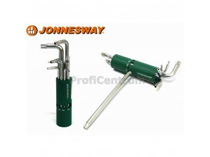 Klíče TORX úhlové s otvorem sada 8ks JONNESWAY