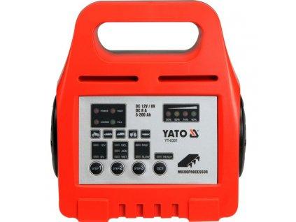 Nabíječka baterií s procesorem 6/12V 8A 5-200AH, autonabíječka YATO YT-8301