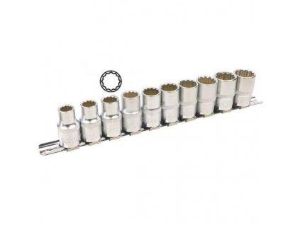 Nástrčné hlavice 12-hran 10-19 mm 1/2'' 10ks