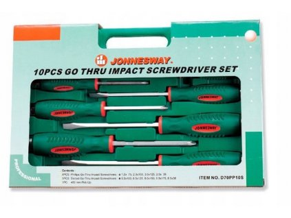 Sada rázových šroubováků + magnetický lapač 10ks JONNESWAY