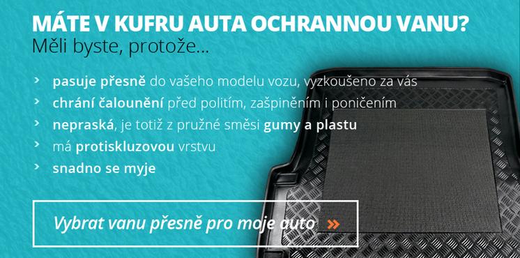 Protiskluzové ochranné plastové/gumové vany do kufru auta