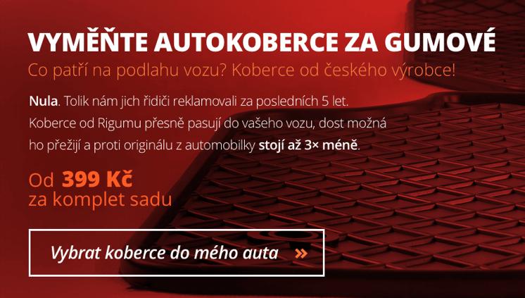 Gumové autokoberce Rigum jsou přesně pasující koberce do auta značky a modelu vašeho vozu