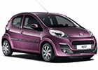 Vana do kufru Peugeot 107
